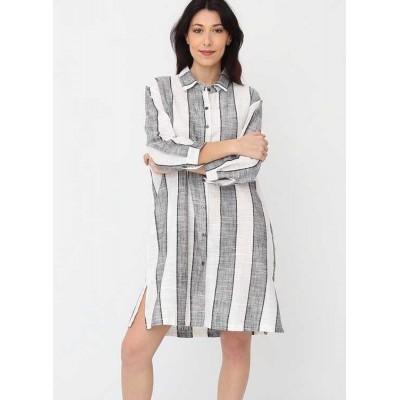 Bella Blue Button through Striped Shirt