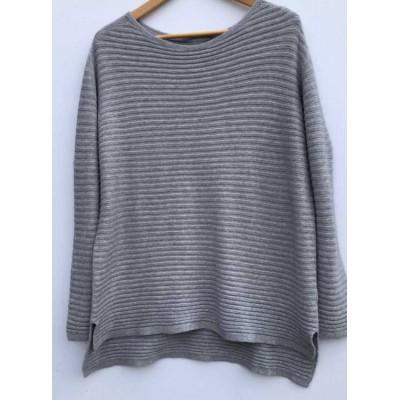 Soft Ribbed Jumper -Grey