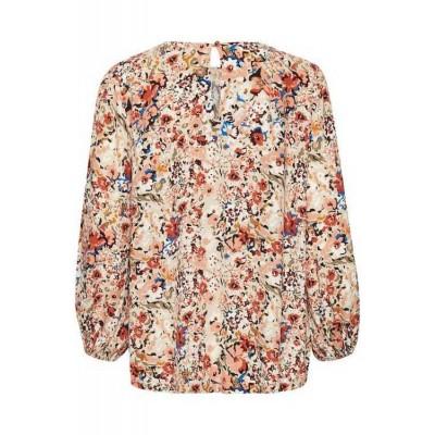 Saint Tropez Long Sleeve Loose Fit Floral Blouse