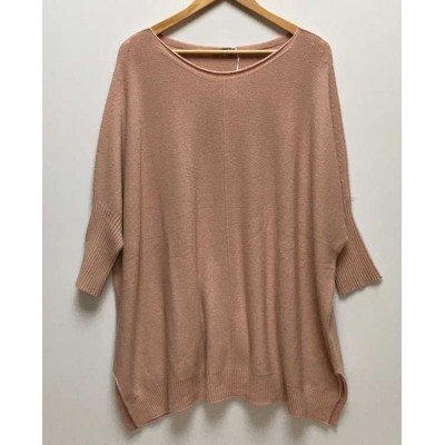 Oversized comfortable jumper – Dusky Pink