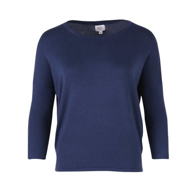 Saint Tropez knit with 3/4 rib sleeves (Blue)