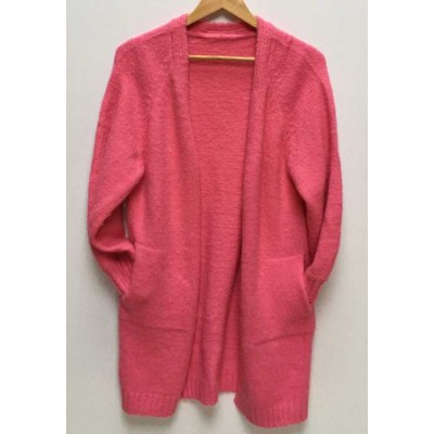 Soft  cardigan-bubble gum pink