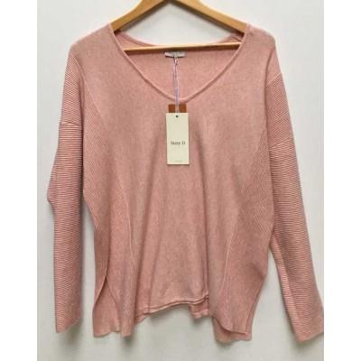SUZY D - v neck knit-pink