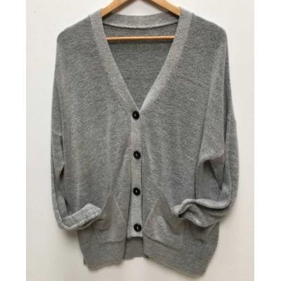 Button through cardigan-grey
