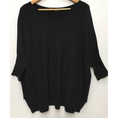 Oversized comfortable jumper - black