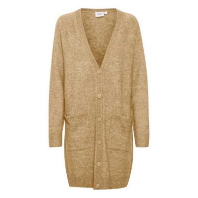 Saint Tropez Long knit Cardigan -Sand