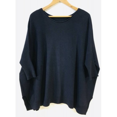 Oversized comfortable jumper – Navy